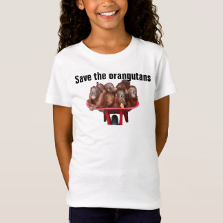 Save the Orangutans Endangered Animals T-Shirt