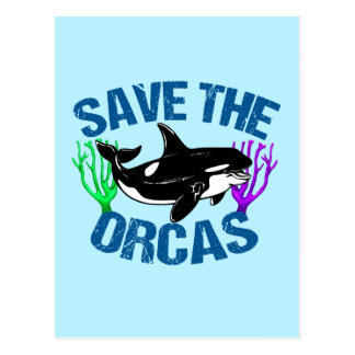 Save the Orcas Cute Postcard