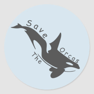 Save the Orcas Round Sticker