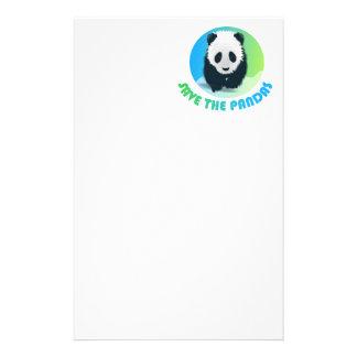 Save the Pandas Stationery