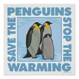 Save the Penguins Poster