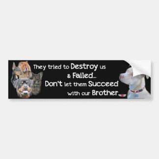 Save the Pitbull Bumper Sticker