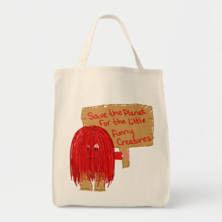 save the planet for the little furry creatures tote bags