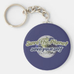 Save the Planet Save Yourself Key Chain
