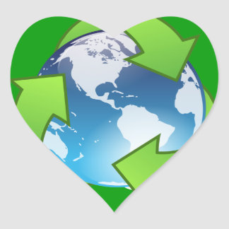Save The Planet Heart Stickers