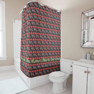 """""""Save The Planet, This Is Our Home"""" shower curtain"""