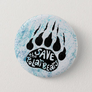 Save The Polar Bears 6 Cm Round Badge