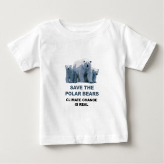 Save the Polar Bears Baby T-Shirt