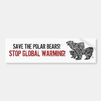 SAVE THE POLAR BEARS! BUMPER STICKER