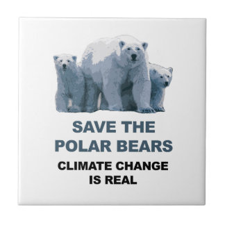 Save the Polar Bears Ceramic Tile