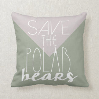 Save The Polar Bears | Climate Change | Pillow