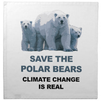 Save the Polar Bears Napkin