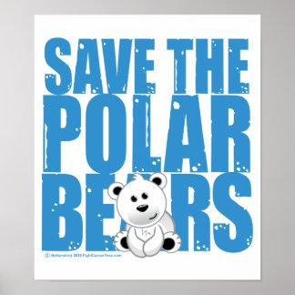 Save the Polar Bears Poster