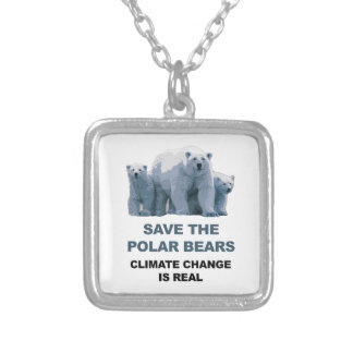 Save the Polar Bears Silver Plated Necklace