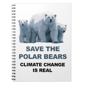 Save the Polar Bears Spiral Notebook