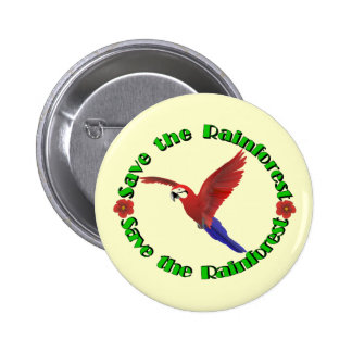 Save the Rainforest 6 Cm Round Badge
