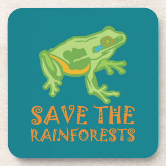 save-the-rainforests Tree Frog Coaster
