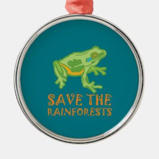 save-the-rainforests Tree Frog Metal Ornament