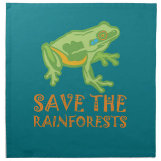 save-the-rainforests Tree Frog Napkin