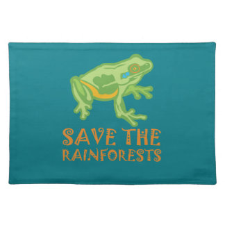 save-the-rainforests Tree Frog Placemat