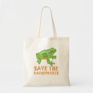 save-the-rainforests Tree Frog Tote Bag