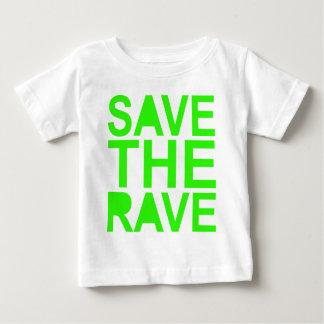 Save the rave green NU RAVE raver 80s scene Tee Shirt