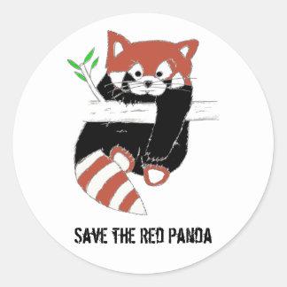Save the Red Panda aka FireFox Round Sticker