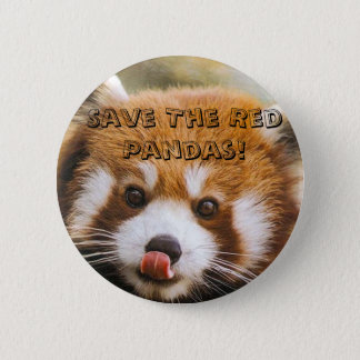 Save The Red Pandas! 6 Cm Round Badge