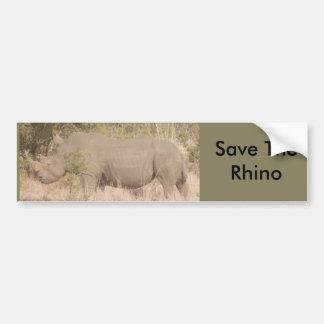 Save The Rhino Bumper Sticker