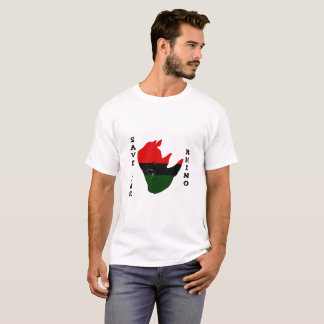 Save the Rhino w/ Africa Tear White T-Shirt