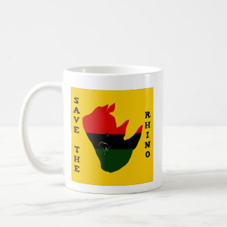 Save the Rhino w/ Africa Tear Yellow Coffee Mug