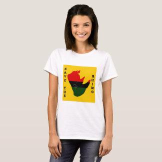 Save the Rhino w/ Africa Tear Yellow T-Shirt