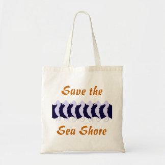 Save the sea shore 2 budget tote bag