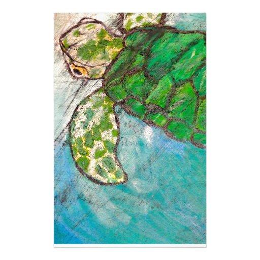 Save The Sea Turtle's Stationery Design