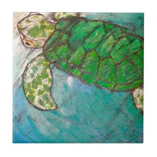 Save The Sea Turtle's Tile