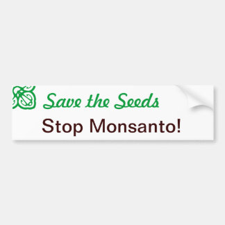 Save the Seeds Bumper Sticker Car Bumper Sticker