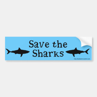 Save the Sharks bumper sticker