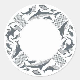 Save the Sharks Lifesaver Classic Round Sticker