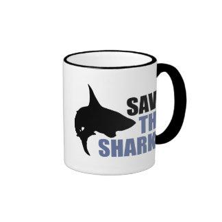 Save The Sharks, Save The Fins Coffee Mug