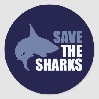 Save The Sharks, Save The Fins Round Sticker