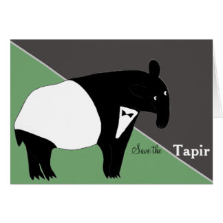 Save the Tapirs Card