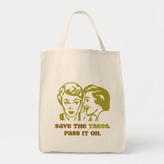 Save the Trees Accent Tote Bag