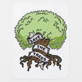 Save The Trees Baby Blanket