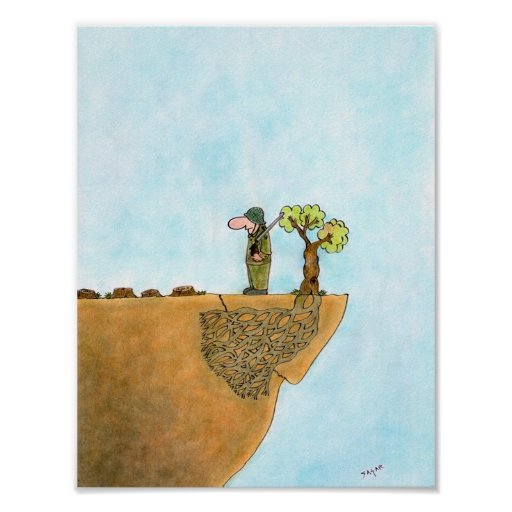 Save The Trees Cartoon Poster Paper