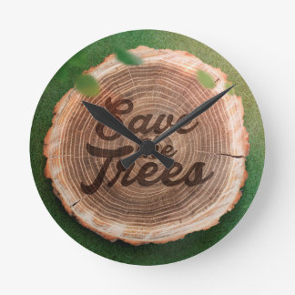 Save the trees Inspirational Design Round Clock