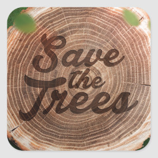Save the trees Inspirational Design Stickers