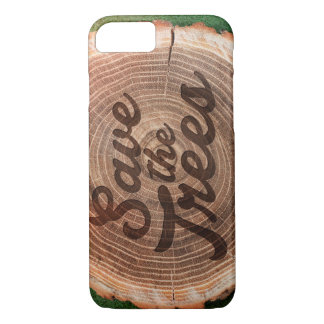Save the trees! Typography iPhone 7 Case