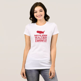 """""""Save the water..."""" Red Type T-Shirt"""