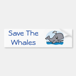 Save The Whales bumper sticker