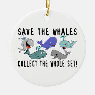Save The Whales Collect The Whole Set Round Ceramic Decoration